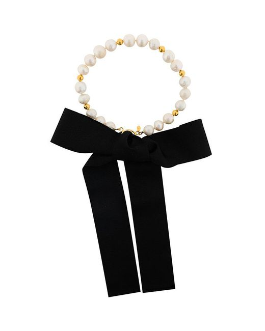 Magda Butrym - White Pearl And Gold Necklace - Lyst