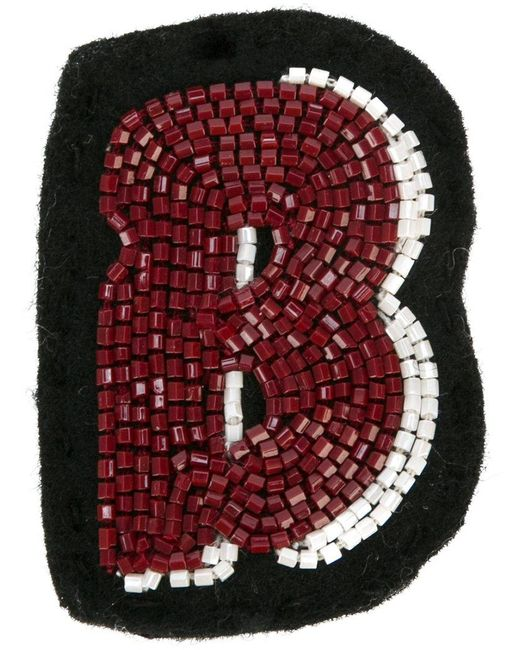Olympia Le-Tan - Black Alphabet Patch - Lyst