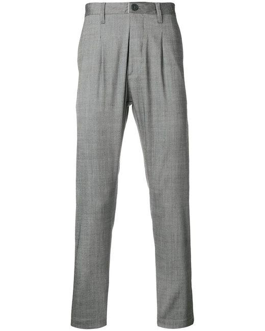 Al Duca D'aosta - Gray Pinstripe Slim Fit Trousers for Men - Lyst