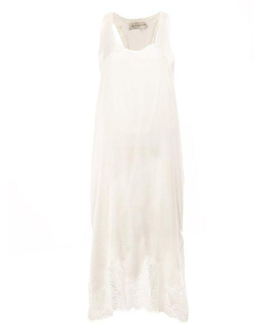 Faith Connexion | White Lace Hem Sleeveless Dress | Lyst