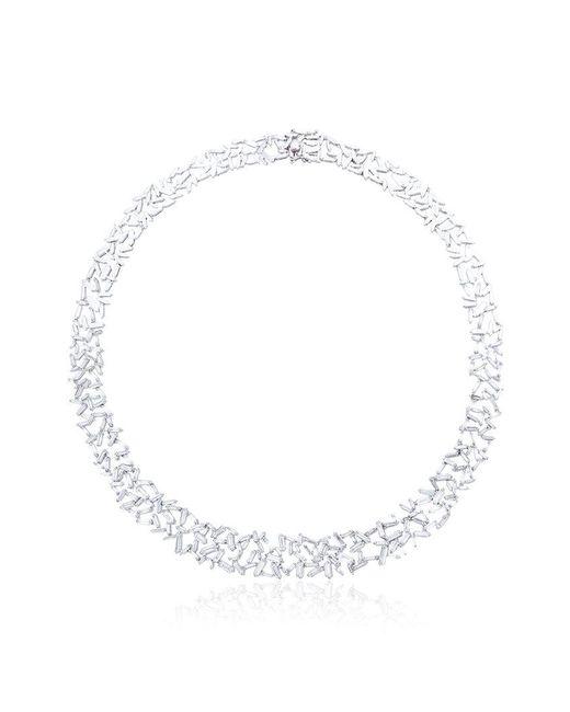 Suzanne Kalan - Metallic Baguette Diamonds Necklace - Lyst