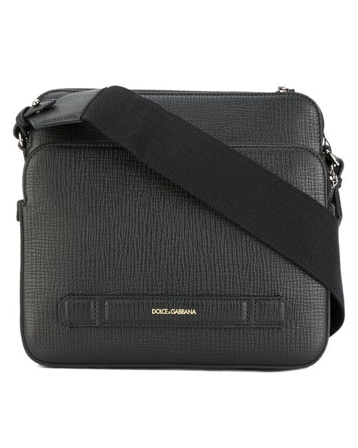 e4107eec081f Lyst - Dolce   Gabbana Double Compartment Messenger Bag in Black for Men