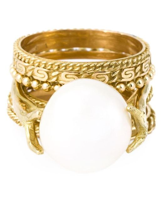 Wouters & Hendrix - White Pearl Set Of Rings - Lyst