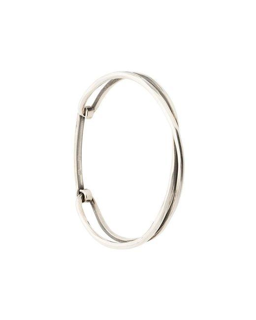 Werkstatt:münchen | Metallic Crossed Bracelet | Lyst