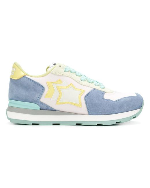 Atlantic Stars - Blue Colour Block Sneakers With Star Patches - Lyst