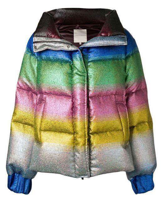 Marco De Vincenzo - Metallic Rainbow Gradient Padded Jacket - Lyst