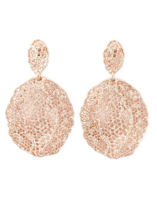 Aurelie Bidermann - Metallic 'vintage Lace' Earrings - Lyst