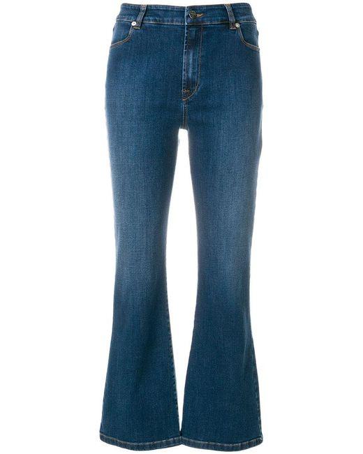 Vivetta - Blue Heart Embellished Kick Flare Jeans - Lyst