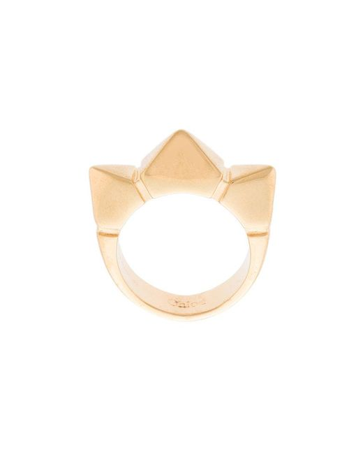 Chloé - Metallic Spiked Ring - Lyst