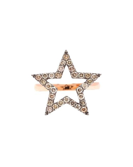 Rosa De La Cruz - Metallic Diamond Star Ring - Lyst