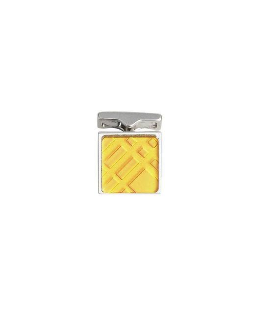 Burberry - Metallic Check-engraved Cufflinks for Men - Lyst