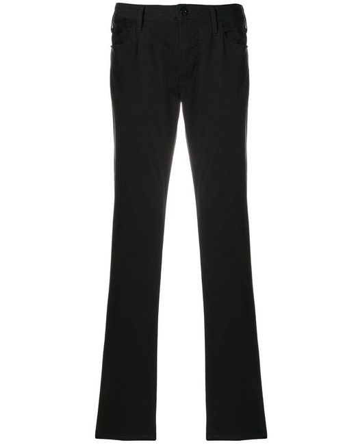 Armani Jeans - Black Straight-leg Jeans for Men - Lyst