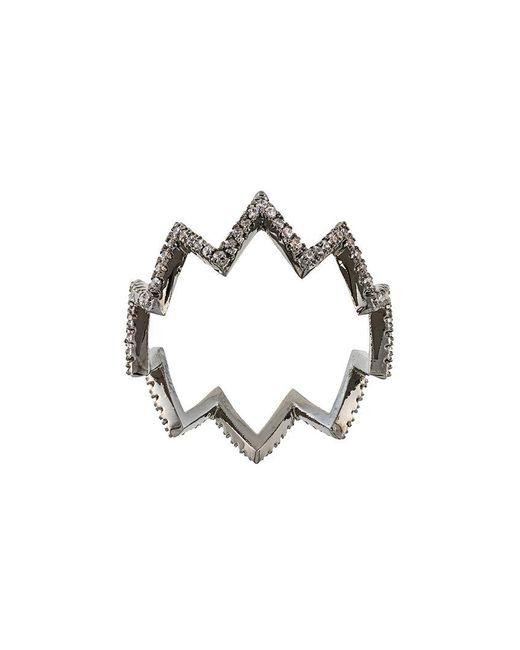 FEDERICA TOSI | Metallic Zig Zag Ring | Lyst