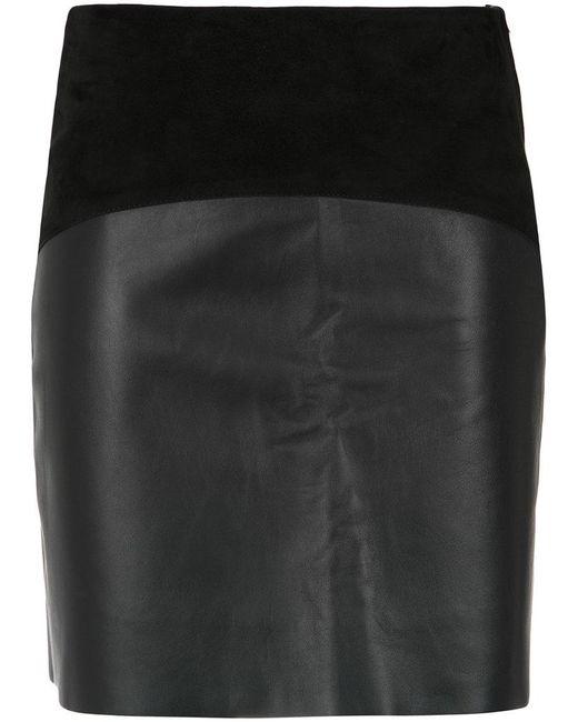 Egrey - Black Panelled Skirt - Lyst