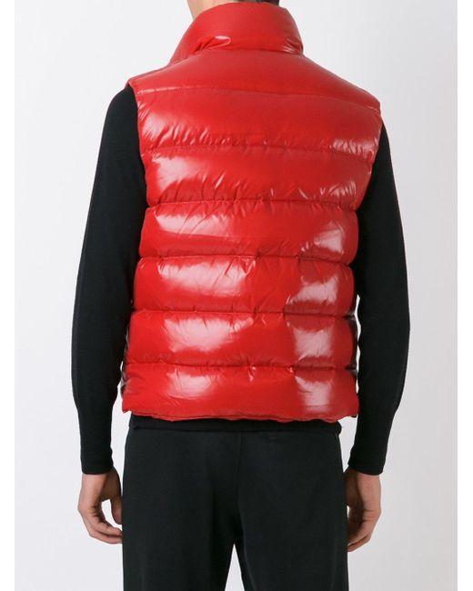 moncler tib vest red