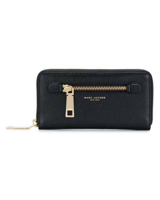 Marc Jacobs | Black Gotham Standard Continental Wallet | Lyst