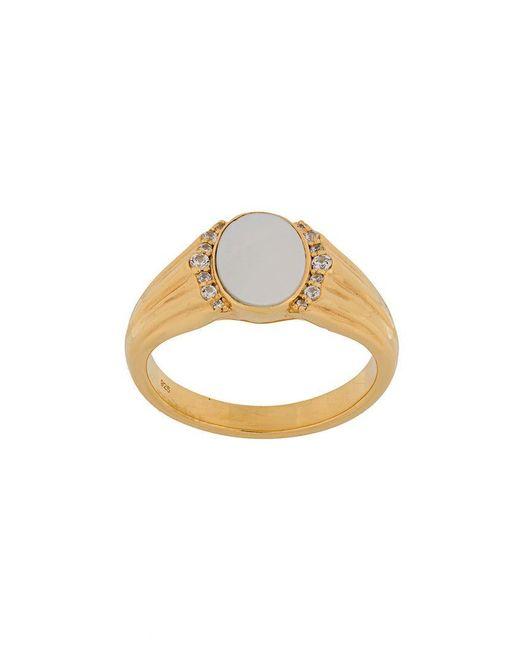 Astley Clarke - Metallic Mother Of Pearl Luna Signet Ring - Lyst
