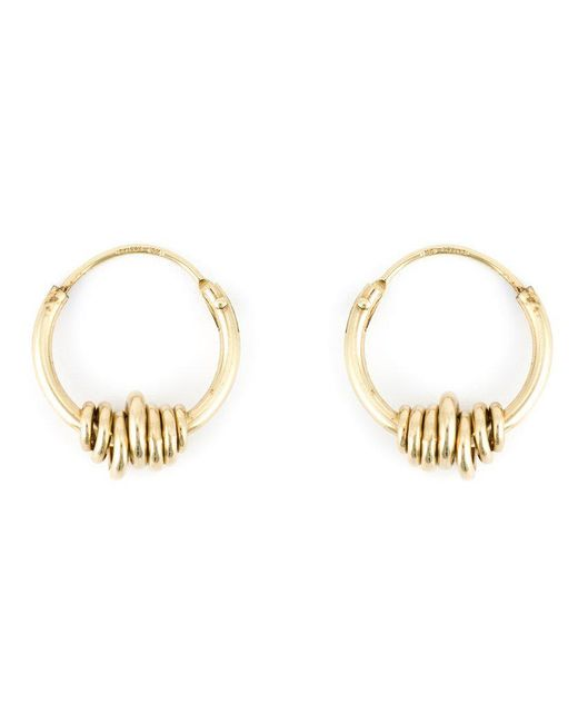 Wouters & Hendrix | Metallic Wrapped Wire Hoop Earrings | Lyst