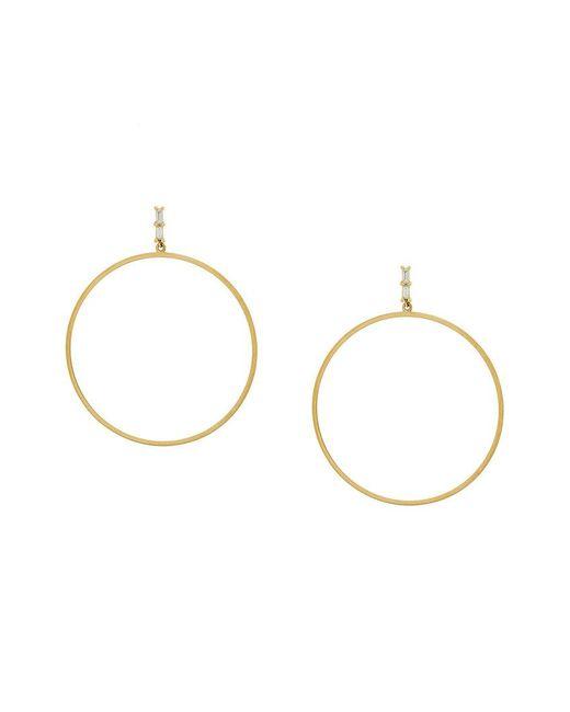 Ileana Makri - Metallic Baguette Bar Hoop Earrings - Lyst