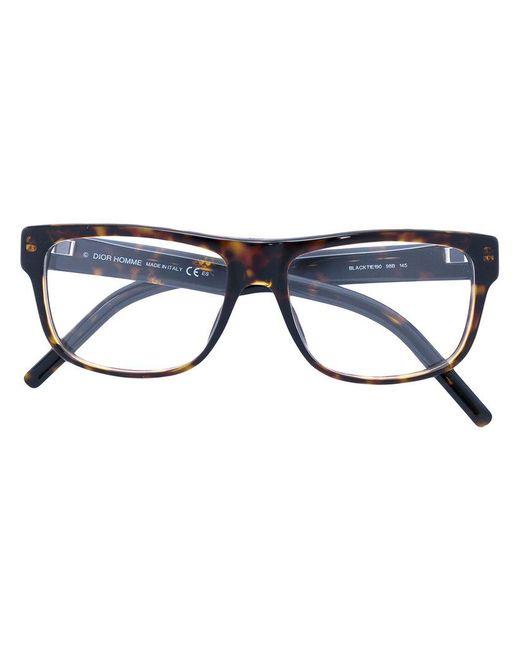 coloris en à monture Lunettes vue pour Dior Lyst homme carrée de Z7vwWPWqR 3485880f8ff2