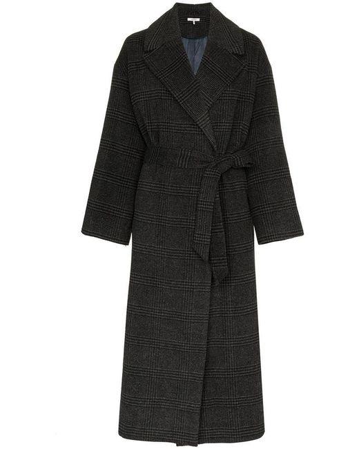 Ganni - Gray Woodside Belted Coat - Lyst