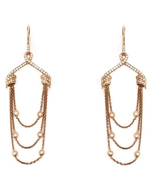 Stephen Webster - Multicolor Draped Diamond Earrings - Lyst