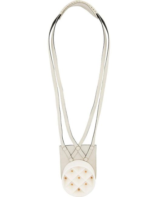 Papieta | White Hanging Necklace | Lyst