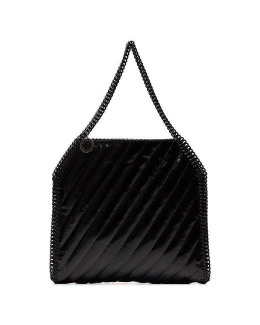 bc0178c8e0 Lyst - Stella McCartney Black Falabella Quilted Shoulder Bag in ...