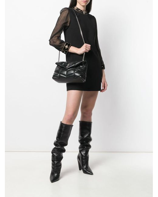 4c33d15ef ... Saint Laurent - Black Ysl Loulou Shoulder Bag - Lyst ...