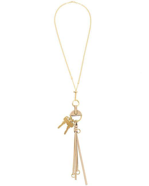 Chloé - Metallic Hanging Key Pendant - Lyst