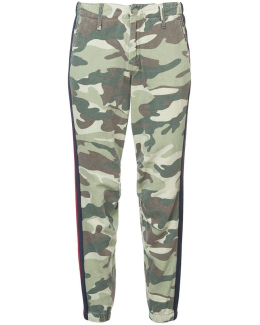 Mother - Green Camouflage Print Trousers - Lyst