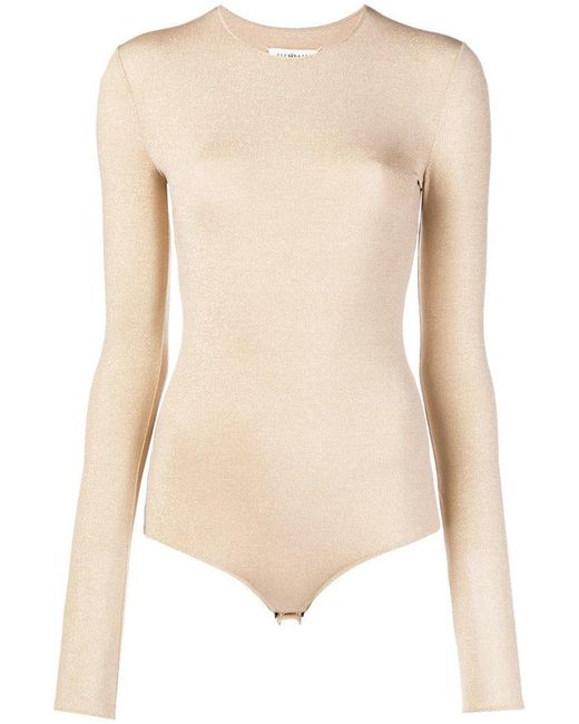 Maison Margiela - Metallic Long Sleeved Lurex Body - Lyst