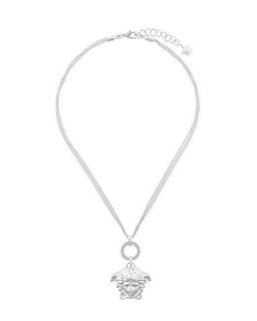Versace - Metallic Collana A Catena 'medusa' - Lyst