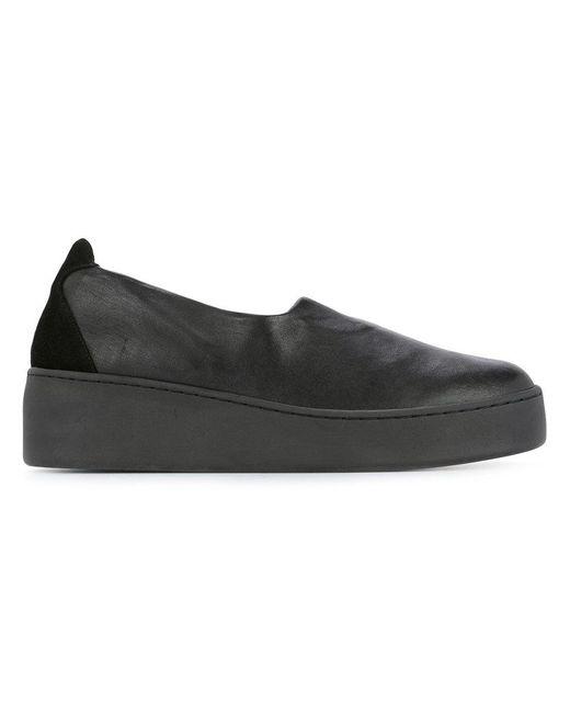 Clergerie - Black Platform Slip-on Shoes - Lyst
