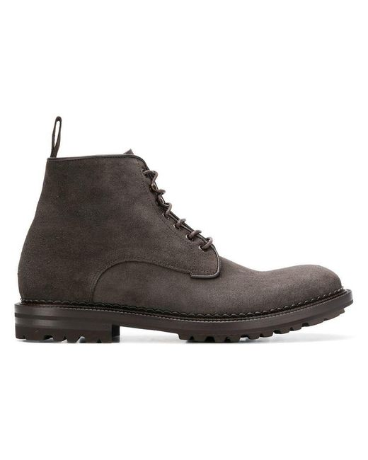 Green George - Gray Ankle Boots for Men - Lyst