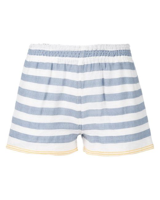 Lemlem   Blue Striped Shorts   Lyst