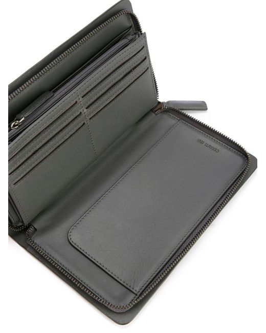 32b60091583 ... Cerruti 1881 - Gray Zip-around Wallet for Men - Lyst