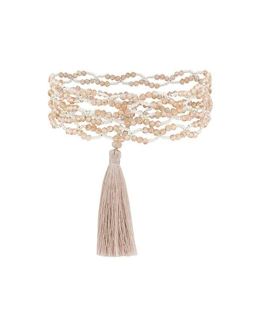 Night Market - Multicolor Tassel Detail Necklace - Lyst