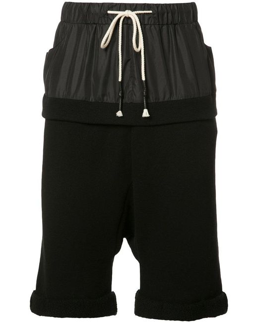 Mostly Heard Rarely Seen - Black Paneled Track Shorts for Men - Lyst
