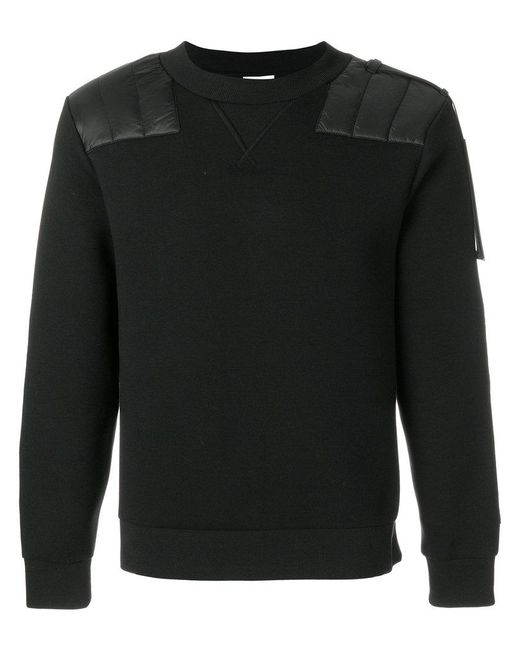 Moncler - Black Shoulder Panel Jumper for Men - Lyst