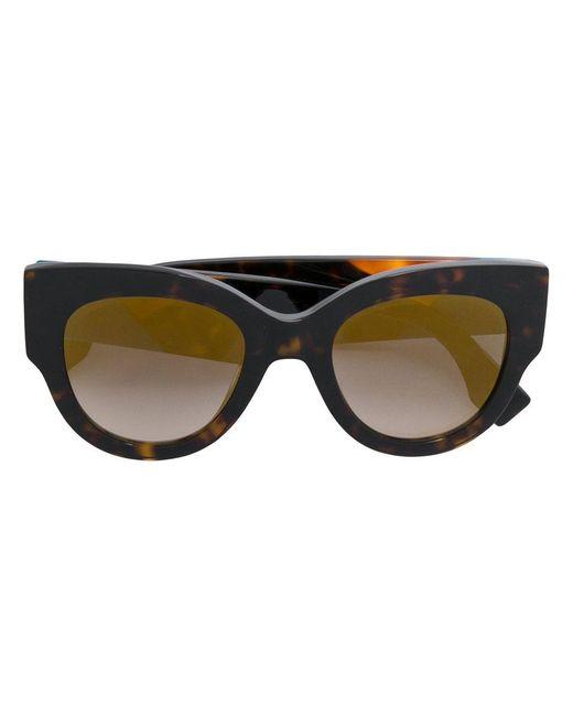 12429b259f86 Fendi - Brown Oversized Cat-eye Sunglasses - Lyst ...