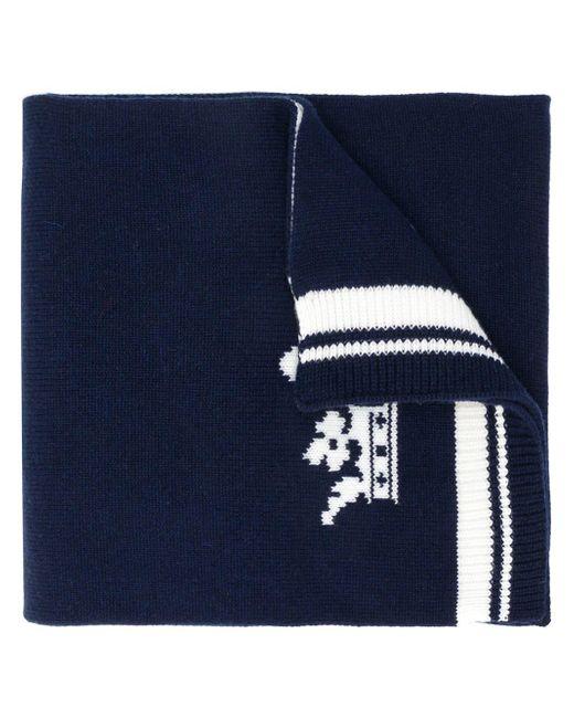 Dolce & Gabbana - Blue Logo Patch Scarf for Men - Lyst