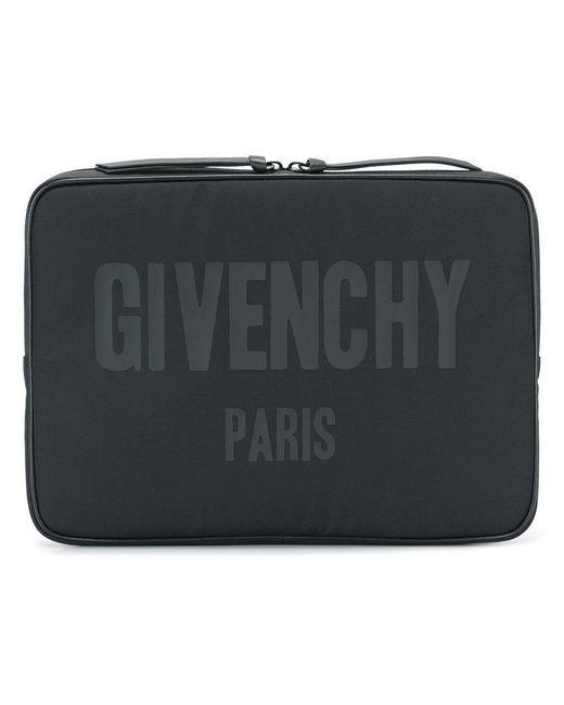 Givenchy - Black Logo Print Document Holder for Men - Lyst