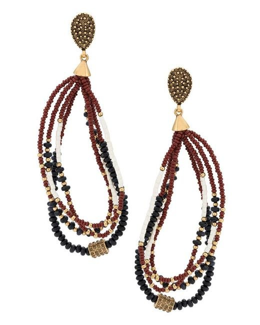 Camila Klein | Metallic Beaded Earrings | Lyst