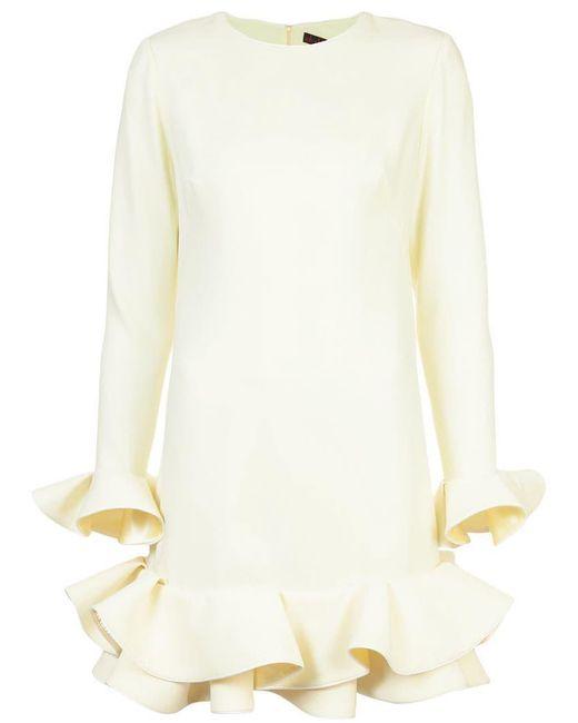 Nha Khanh - Yellow Ruffled Hem Dress - Lyst