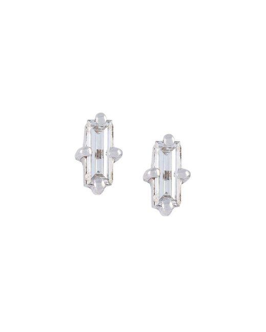 Wouters & Hendrix - Metallic 'baguette' Diamond Earrings - Lyst