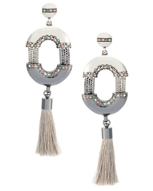 Camila Klein Metallic 'conceito' Tassel Earrings