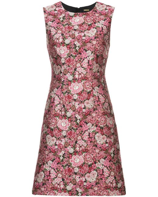 Adam Lippes - Pink Floral Pattern Sheath Dress - Lyst