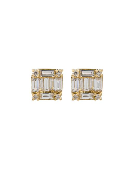 SHAY | Metallic Square Stacked Baguette Stud Earrings | Lyst