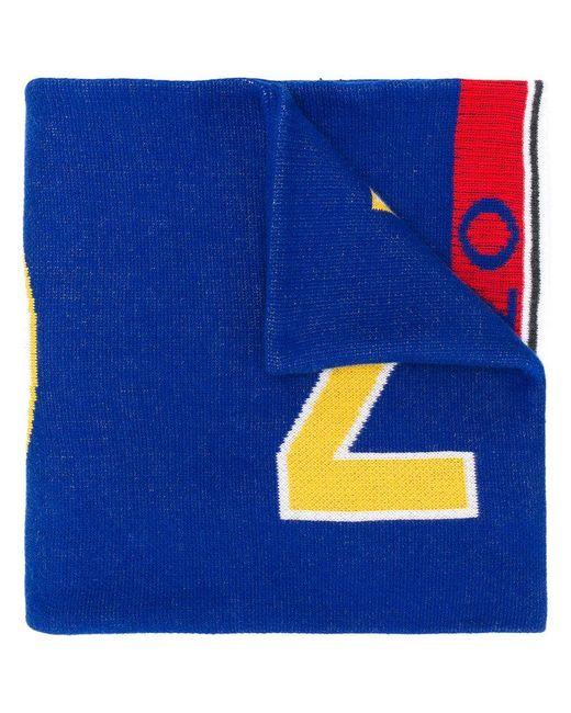 KENZO - Blue Logo Scarf - Lyst